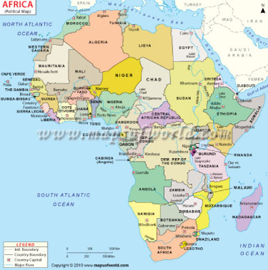 All about Africa on Mapsofworld | Team Infobase